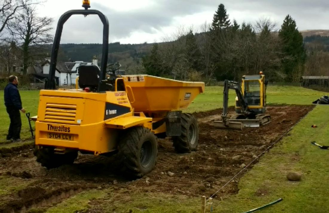 Work begins on the Cricket pitch at Fort Augustus
