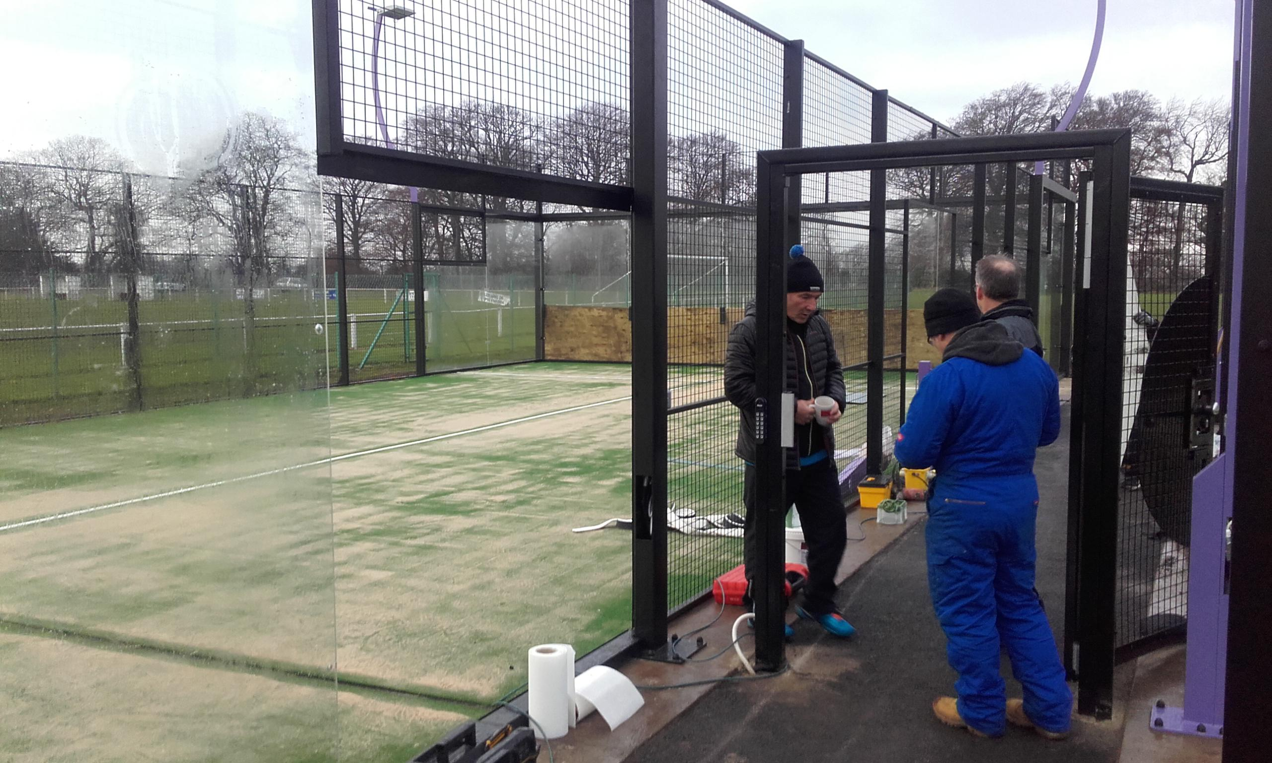 Playrite Grandplay surface at Thistle Padel Edinburgh