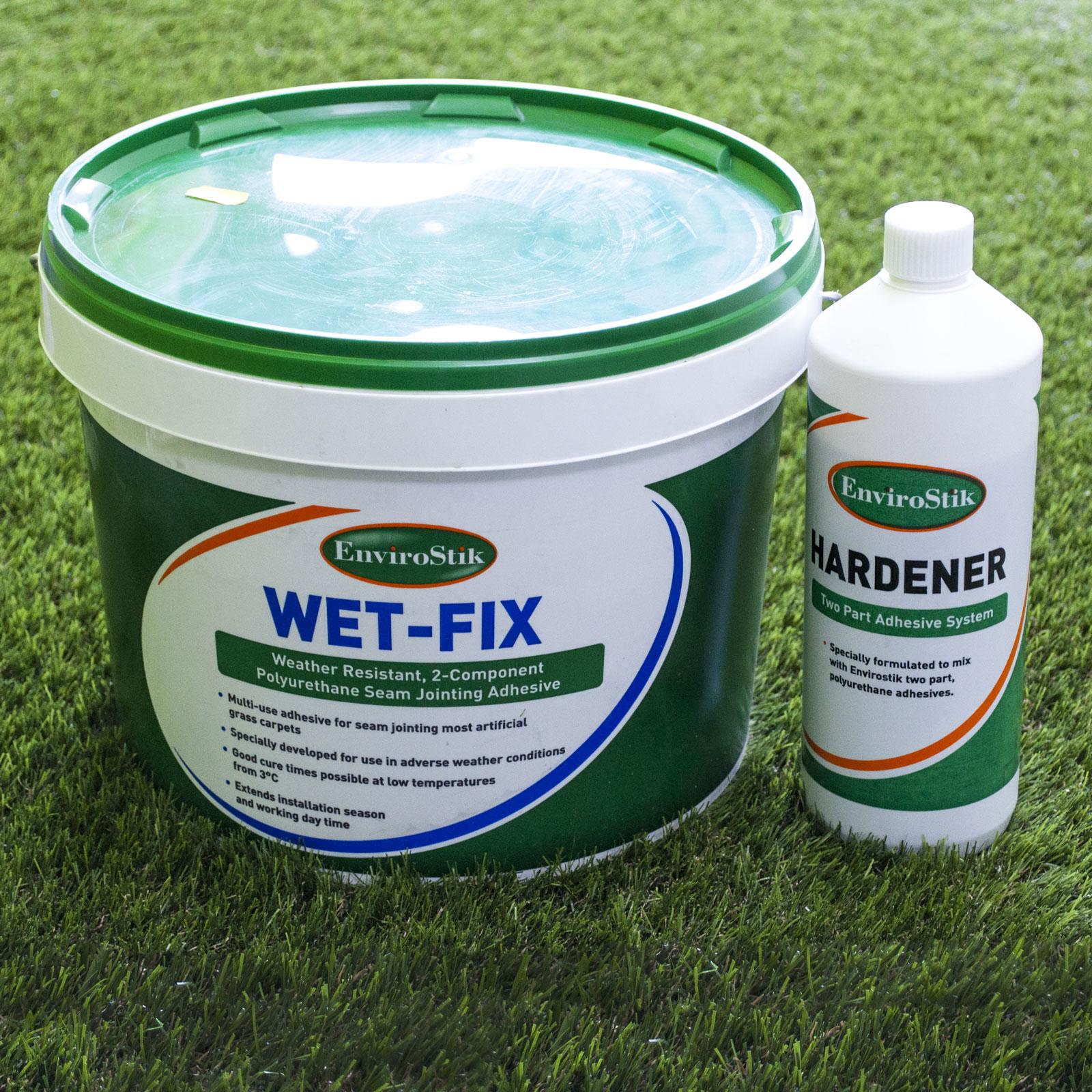 Wet Fix 10kg adhesive tub and hardener