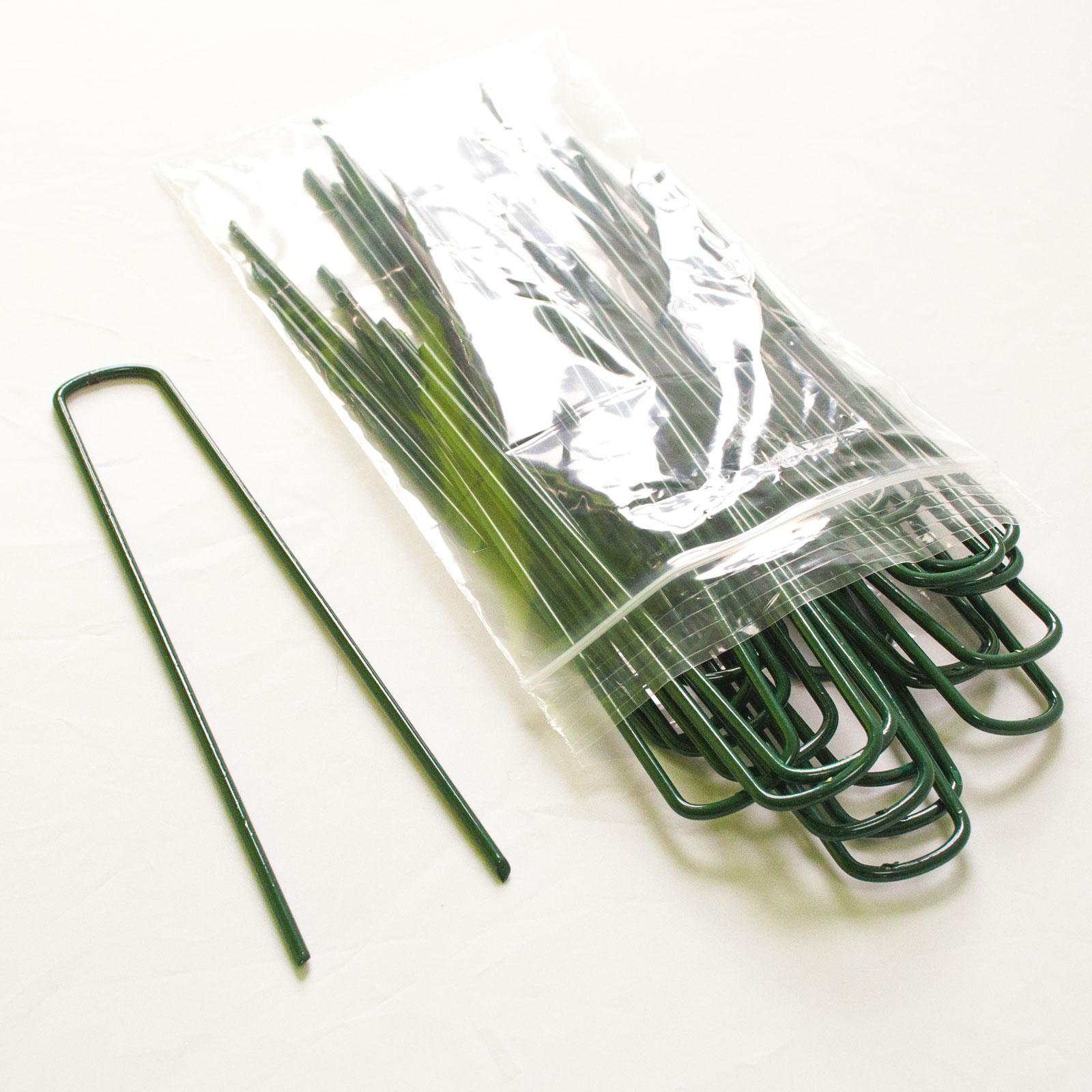 Green securing pins set of 50